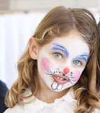Face painting portrait royalty free stock image