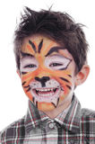 Face painting of tiger Royalty Free Stock Images