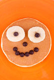 Face on pancake Stock Photography