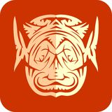 Face paper cut Royalty Free Stock Photography