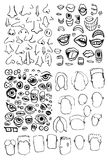 Face Parts Stock Images