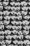 Face pattern fabric Stock Photography