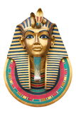 Face of a Pharaoh. Isolated on white royalty free stock photography