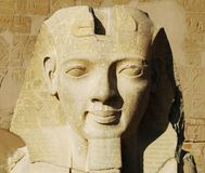 Face of pharaoh in Luxor royalty free stock images