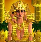 Face Of The Pharaoh Queen Stock Photo