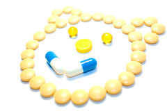 Face of pills Royalty Free Stock Photos