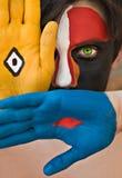 Face pintada Fotografia de Stock Royalty Free