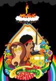 Face Plant Rainbow Music Stock Image