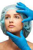 Face before plastic surgery operation Royalty Free Stock Image