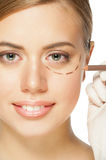 Face before plastic surgery operation Stock Photos
