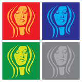 Face in popart Royalty Free Stock Photography