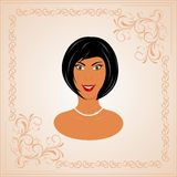Face portrait of beautiful girl Royalty Free Stock Image