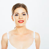 Face portrait of woman smiling with teeth Stock Image