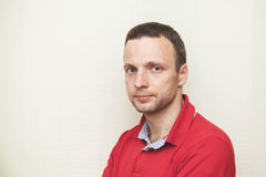 Face portrait of young adult European man Stock Photography