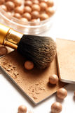 Face powder. Make-up for fashion and beauty magazines. soft focus stock image