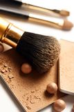 Face powder. Make-up for fashion and beauty magazines. soft focus royalty free stock photos