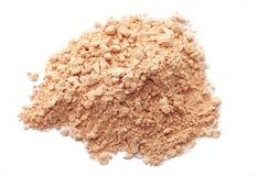 Face powder. On white background stock image