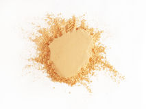 Face Powder. Isolated batch of face powder royalty free stock images