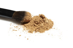 Face powder with brush Royalty Free Stock Image