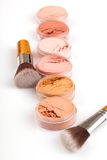 Face powder colors Stock Photography