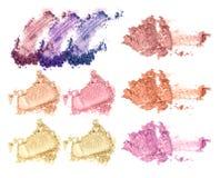 Face powder cosmetics collection on white background. Face powder cosmetics collection on white background stock photos