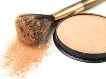 Face Powder. Isolated on white background stock image