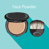 Face powder style flat Royalty Free Stock Photos