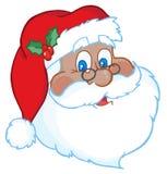 Face preta de Santa Imagens de Stock Royalty Free