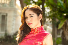 Face of pretty Chinese woman . Stock Image