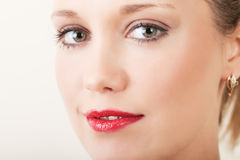 Face of a pretty woman Stock Photography