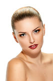 Face of pretty young woman Stock Image