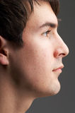 Face in profile Stock Photo