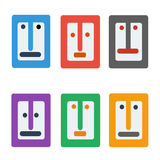 Face profile flat  icon  eps.10. Face profile flat color  icon  eps.10 for social online comunity Royalty Free Stock Photography