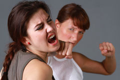 Face punch Royalty Free Stock Photography