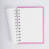 Face purple notebook for background and text Stock Photos