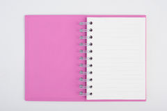 Face purple notebook for background and text Royalty Free Stock Photo