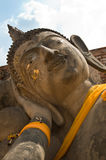 Face of a reclining Buddha Stock Photography