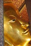 Face of Reclining Buddha at Wat Pho Royalty Free Stock Photography