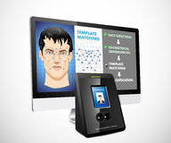 Face recognition Stock Photo