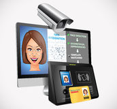 Face recognition - biometric security system royalty free stock photos