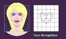 Face recognition - biometric security system Royalty Free Stock Images