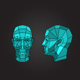 Face recognition and scanning - biometric security system. Vector illustration Stock Photo