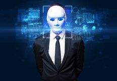 Face recognition with several points royalty free stock image