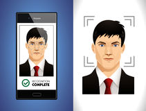 Face recognition system - Computer software Royalty Free Stock Photos