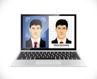 Face recognition system - Computer software Royalty Free Stock Images