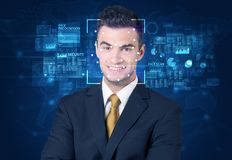 Face Recognition System Royalty Free Stock Photo