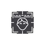 Face recognition system icon vector Royalty Free Stock Photos