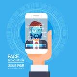Face Recognition Technology Smart Phone Scanning Eye Retina Biometric Identification System Royalty Free Stock Photo