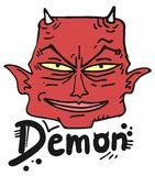Face red demon Royalty Free Stock Photo
