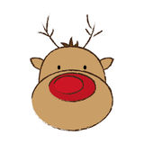 Face reindeer merry christmas image. Illustration eps 10 Royalty Free Stock Photo
